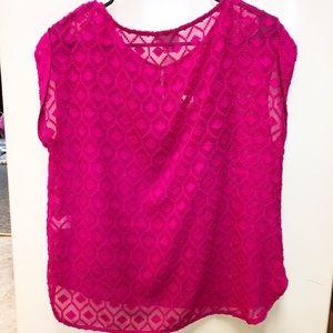 Liz Claiborne lace Pink tank & blouse